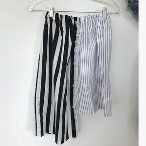 ASOS asymmetrical striped skirt